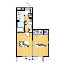 ラ カンパネラ B棟[1階]の間取り