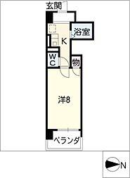 アルカンシェル東別院[4階]の間取り