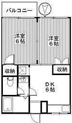 あべハイツ[2階]の間取り