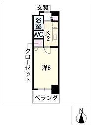 CK錦レジデンス[8階]の間取り