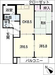ボナールB棟[1階]の間取り
