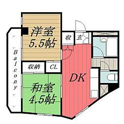 千葉県千葉市中央区登戸3丁目の賃貸マンションの間取り
