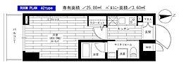 東京メトロ日比谷線 入谷駅 徒歩7分の賃貸マンション 2階1Kの間取り