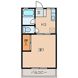 並木坂ハイツB[103号室号室]の間取り