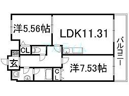 レジディア京都駅前[9階]の間取り