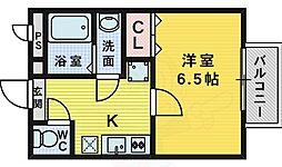 南海高野線 萩原天神駅 徒歩10分の賃貸アパート 2階1Kの間取り