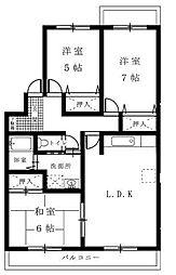 コーポラス高橋II[3LDK号室]の間取り