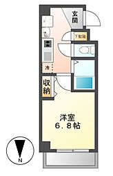 クレストステージ名駅[3階]の間取り