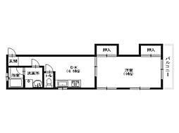 八木興産ビル[4階]の間取り