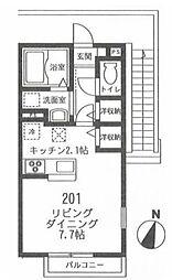 フィカーサ鎌倉[2階]の間取り