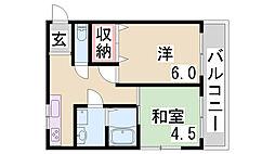 (仮)駒ヶ林町2ハイツ[101号室]の間取り