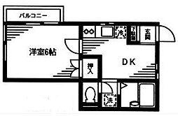 明石コーポ[2階]の間取り