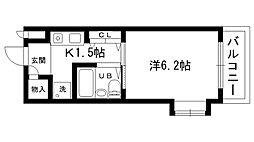 マンション三木[301号室]の間取り
