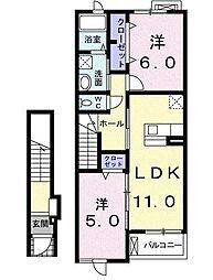 アニメート・Y I[2階]の間取り