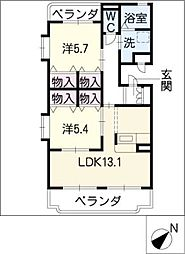 K&K[1階]の間取り