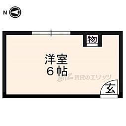 阪急京都本線 大宮駅 徒歩6分の賃貸マンション 2階ワンルームの間取り