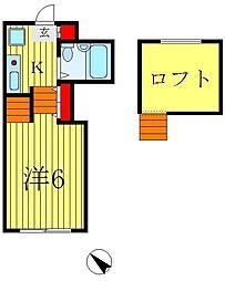 ジュネパレス松戸第73[2階]の間取り