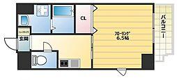 アール大阪グランデ 3階1Kの間取り