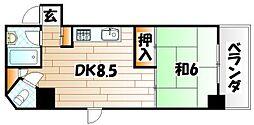 ヒットパークレジデンス三萩野[4階]の間取り