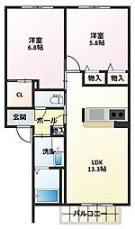 シャーメゾンイケダ[1階]の間取り