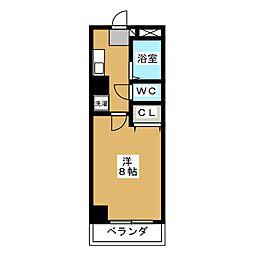 コモドエスぺシオ勝山[2階]の間取り