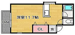 福岡県福岡市博多区昭南町2丁目の賃貸アパートの間取り