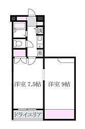 メゾン・ド・武蔵野[-1階]の間取り