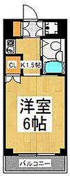 セジュール・ド・ミワ参番館[3階]の間取り