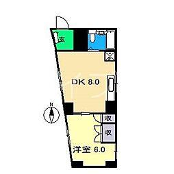 しらさぎマンションII[2階]の間取り