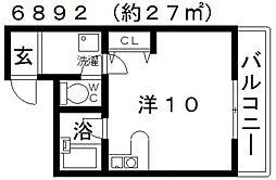 アルファビル[208号室号室]の間取り
