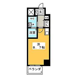 マリオン城西[6階]の間取り