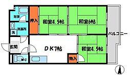 樋本マンション 1階3DKの間取り