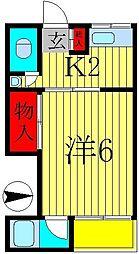 松風荘[102号室]の間取り