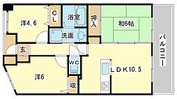 プレステージ姫路V[303号室]の間取り