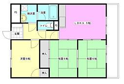 Palazzo Hashimoto 1st[2階]の間取り