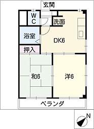 メゾン南富士松[4階]の間取り