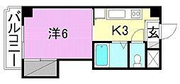 エトワール福音寺[305号室]の間取り