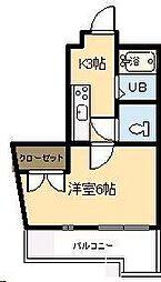 平和ビル錦本町[405号室]の間取り