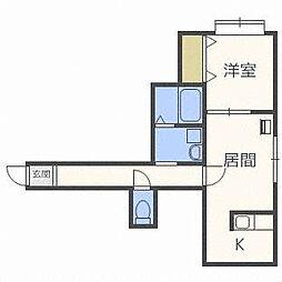 FOREST栄通B[2階]の間取り