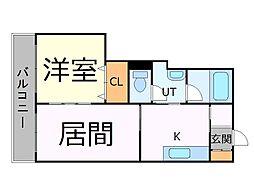 札幌市営東西線 西11丁目駅 徒歩5分の賃貸マンション 8階1LDKの間取り