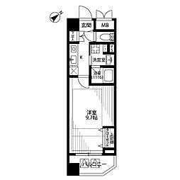 ジーコンフォートウエスト新横浜[312号室]の間取り
