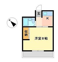 愛知県名古屋市天白区向が丘2丁目の賃貸マンションの間取り