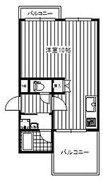メゾン花の木[3階]の間取り