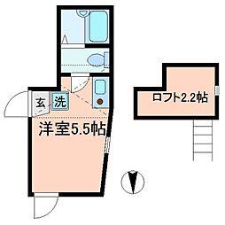 東京都足立区東綾瀬3丁目の賃貸アパートの間取り