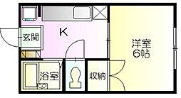 南君塚ハイツ[101号室]の間取り