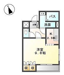 シェルル万場[2階]の間取り
