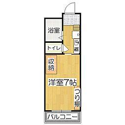 ラクロス桃山[1階]の間取り