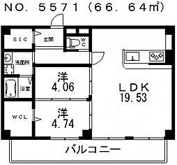 仮称)寺田町1丁目新築マンション[401号室号室]の間取り