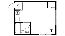兵庫県神戸市須磨区妙法寺桜ノ界地の賃貸アパートの間取り