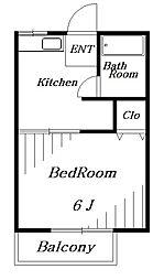 レピュート高岡B[2階]の間取り